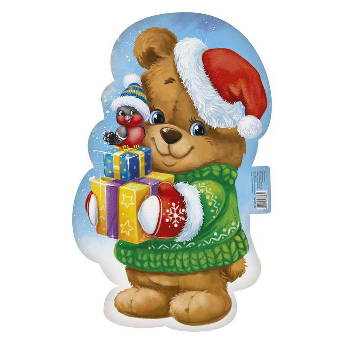 Медвежонок новогодний картинка